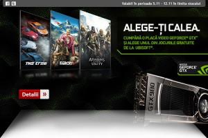 Joc gratuit la achizitia unei placi video Nvidia GTX 980 sau 970