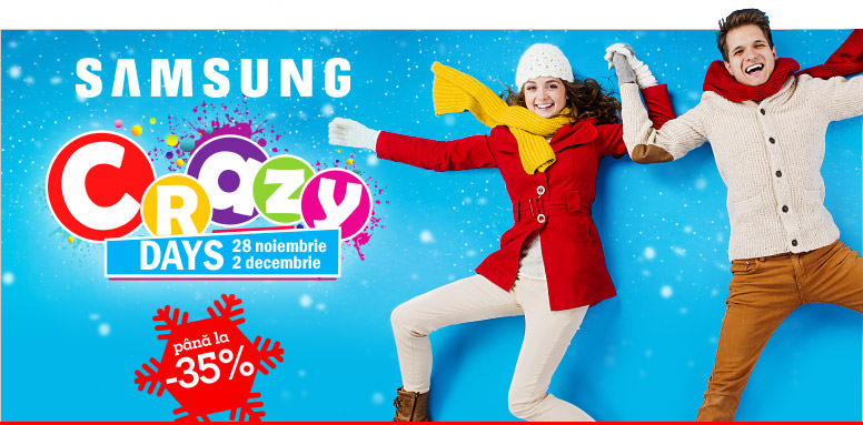 Samsung Crazy Days la eMAG