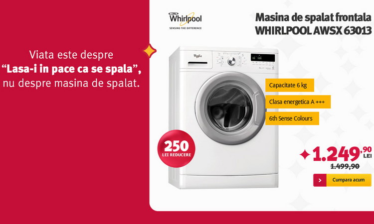 Whirlpool AWSX 63013 la Altex