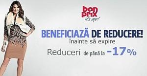 Profitati de reducerile de 17% la Bonprix de astazi!