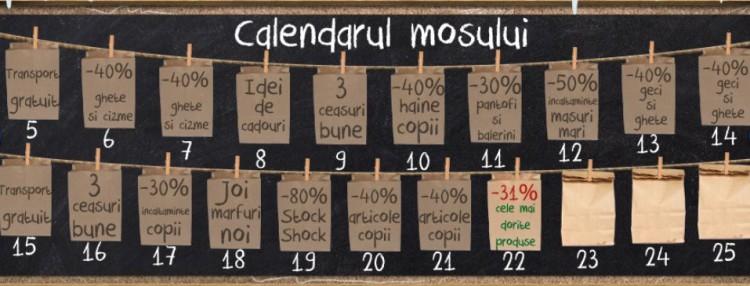 Calendarul mosului reduceri miniPRIX de Craciun