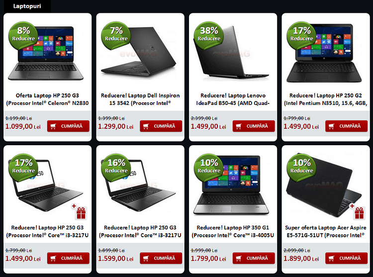 evoMAG promotie laptopuri decembrie