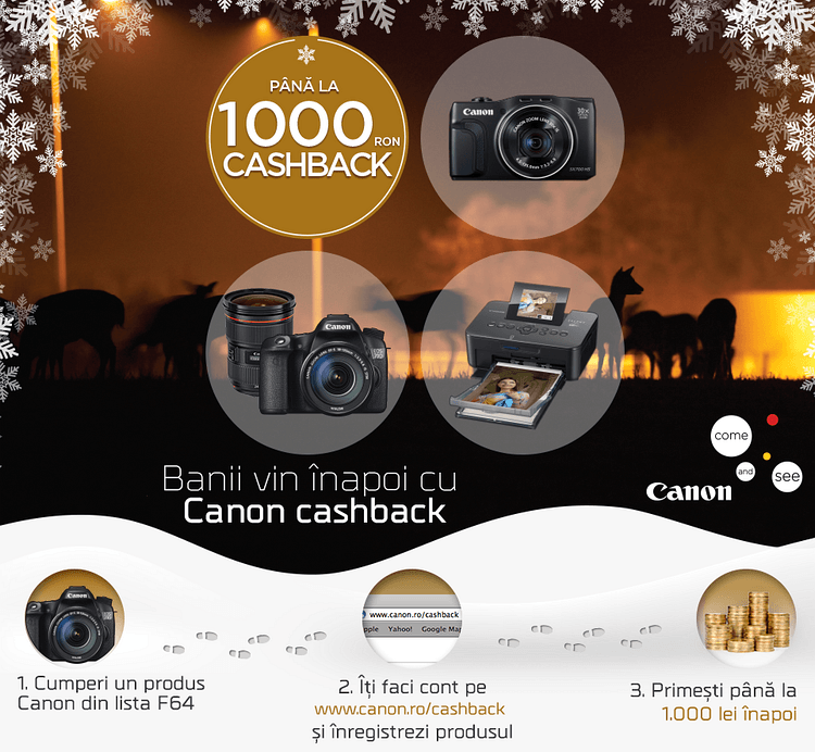 Ghid F64 Canon Cashback
