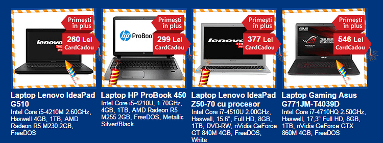 Laptopuri cu reduceri de ziua emag 2014