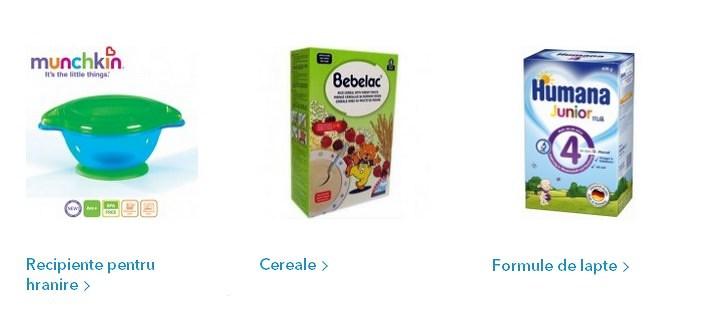 Produsele Noriel Bebe pentru alimentatie