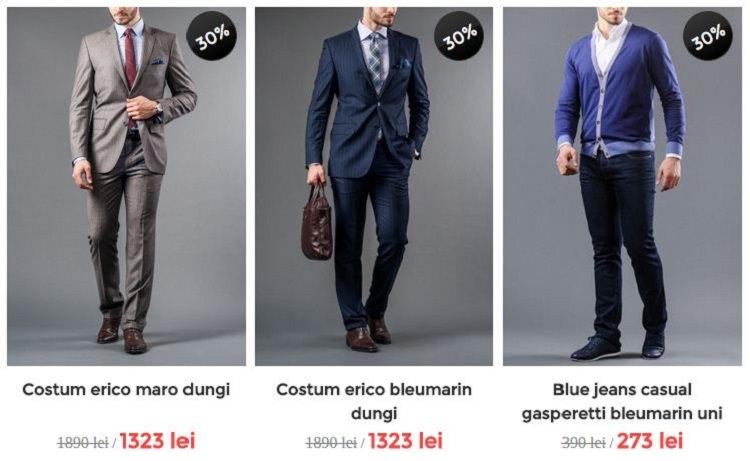 Costum blue jeans Bigotti