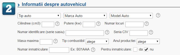 Informatii autovehicul eMAG