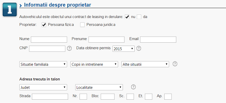 Informatii proprietar auto eMAG