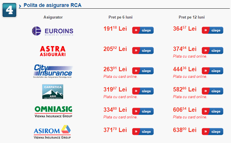 Oferte asigurare RCA la eMAG