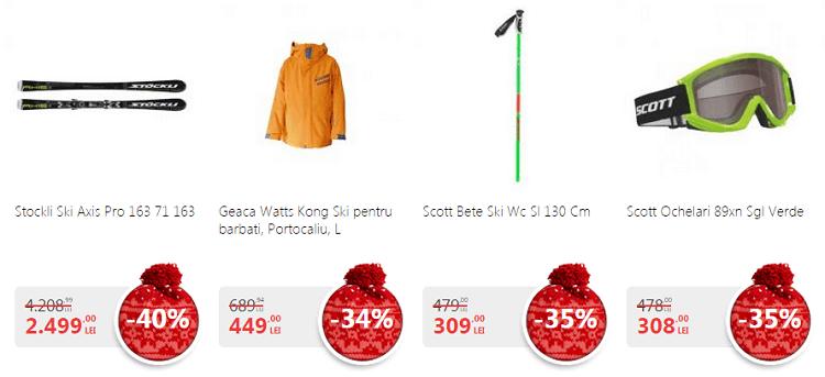 Promotiile inceputului de an pentru echipament schi de la eMAG