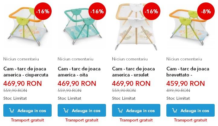 Tarcuri pentru copii incluse in produsele Noriel Bebe