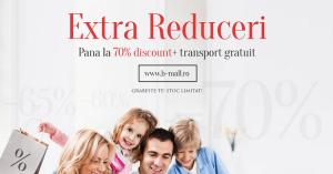 Discounturi de peste 80% in categoria Extra Reduceri de la B-Mall
