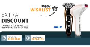 Happy Wishlist la Elefant va aduce extra discount la mii de produse