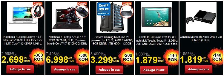 Laptopuri sisteme reduceri PC Garage