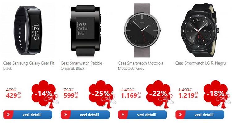 Primavara cadourilor 2015 eMAG smartwatches