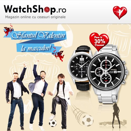 Sfantul Valentin 2015 la WatchShop la masculin