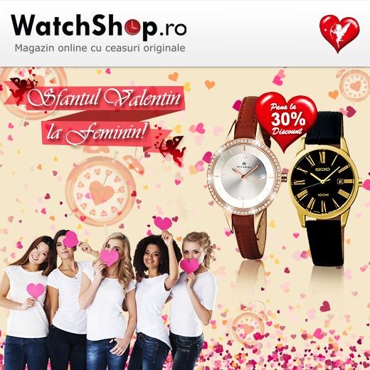 Sfantul Valentin 2015 la WatchShop la feminin