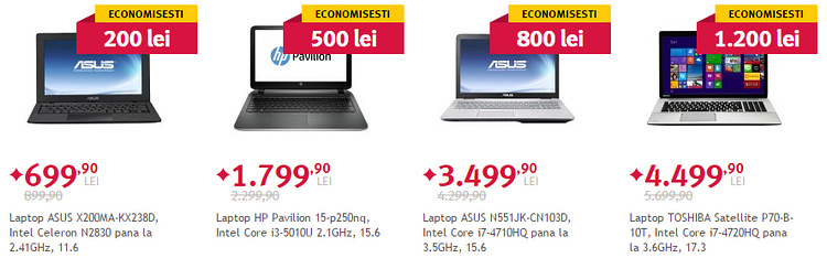 Laptopuri Spring Black Friday la Altex