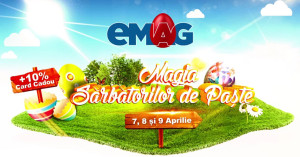 Magia Sarbatorilor de Paste la eMAG: reduceri si carduri cadou