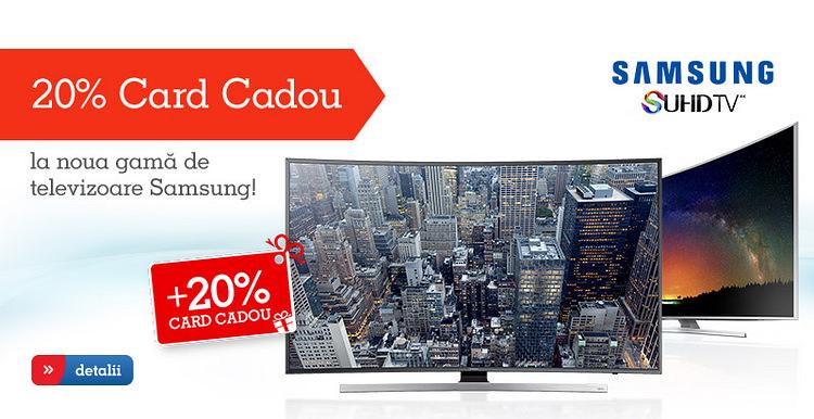 Card Cadou noua gama TV Samsung