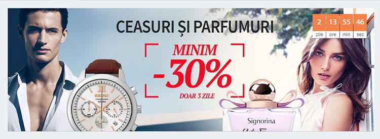 30% discount minim garantat Elefant ceasuri parfumuri