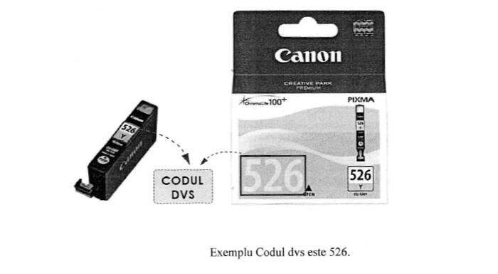 Verificare cod consumabil Canon