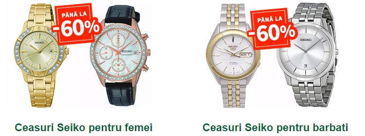 Promotie ceasuri Seiko la Elefant