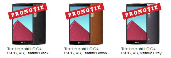 Promotie eMAG LG G4