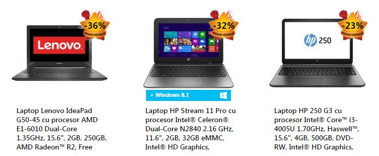 Promotii laptopuri eMAG Revolutia Preturilor iunie