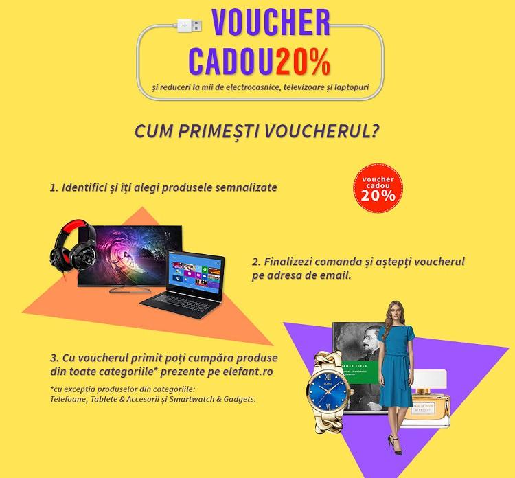 Voucher cadou de 20% pentru electronice