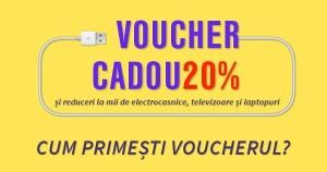Voucher cadou de 20% pentru electronice de la Elefant