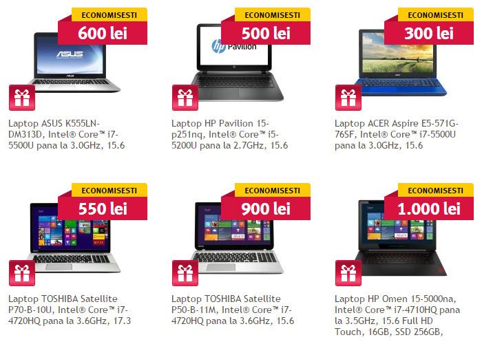 Altex Happy Sunday reduceri laptopuri