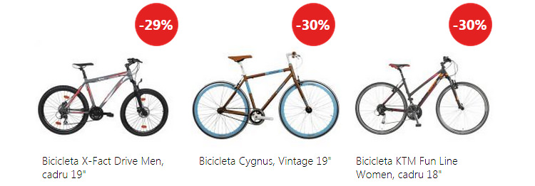 Biciclete oferta eMAG