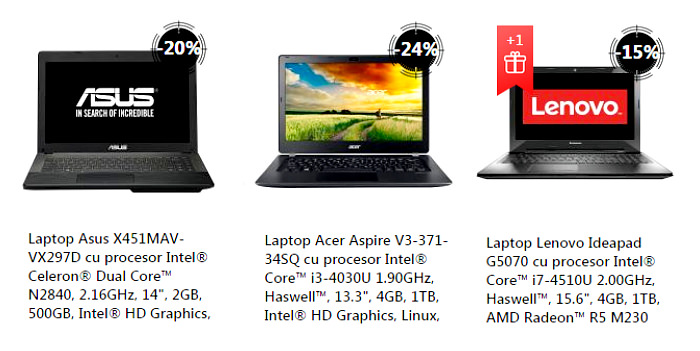 Laptopuri Summer Stock Busters la eMAG