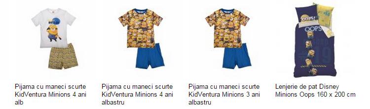 Pijamale lenjerie pat Minioni eMAG
