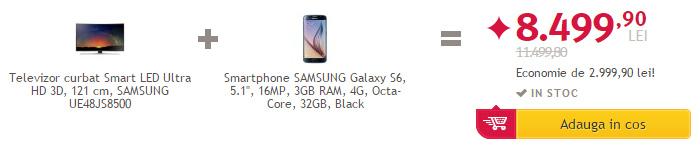 Promotie Altex pachet Samsung TV si smartphone