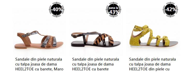 Sandale piele oferta fashion eMAG