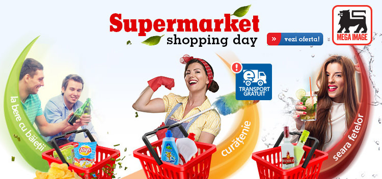 Supermarket shopping day eMAG