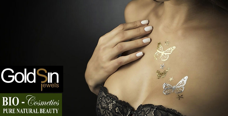 Tatuaje temporare aur argint GoldSin