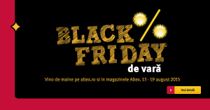 Black Friday de vara Altex