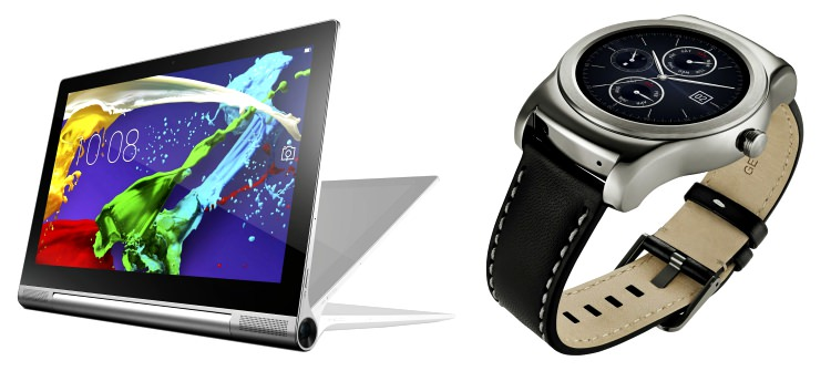 Lenovo Yoga Tablet 2 Pro LG Watch Urbane
