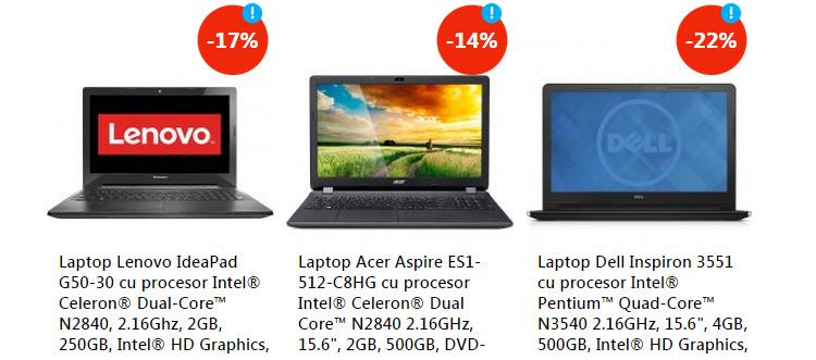 Oferte laptopuri eMAG