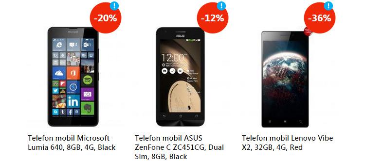 Oferte smartphone-uri eMAG