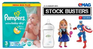 Promotii la articole de copii prin Stock Busters la eMAG