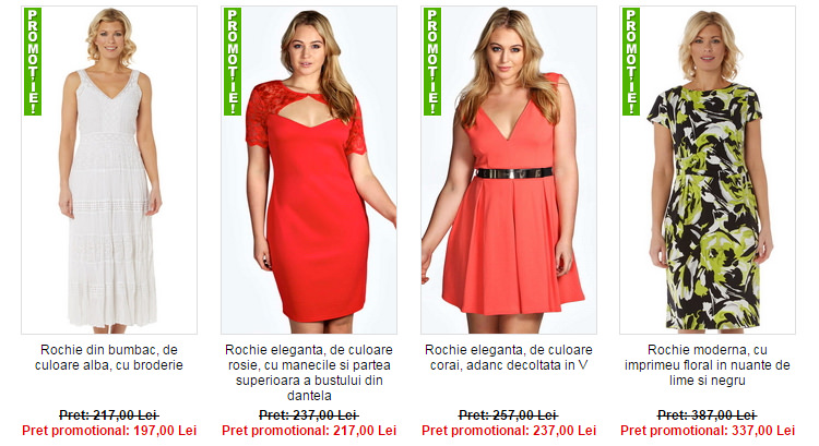 Promotii rochii marimi mari Maxine