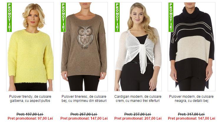 Promotii tricotaje masuri mari Maxine