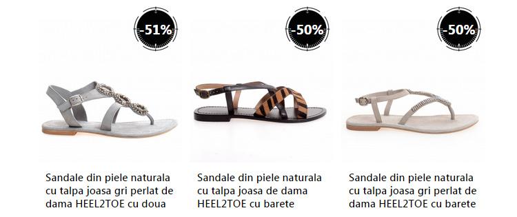 Reduceri sandale piele dama eMAG