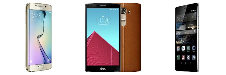 S6 Edge LG G4 Huawei P8