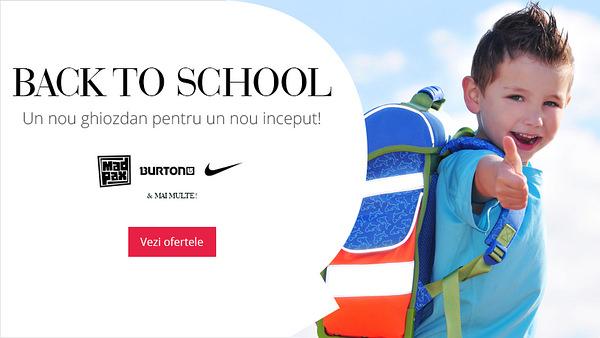 Oferta ghiozdane Back to School Boutique Mall