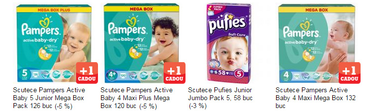 Scutece Pampers Pufies eMAG